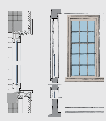 Wall sections for High r value windows